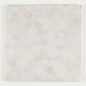 Azrou Mosaic Tile - Snow
