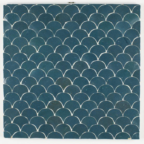 Azrou Mosaic Tile - Blue Grotto