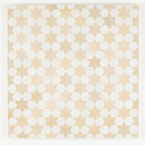 Sale Mosaic Tile - Snow is Hex and Clay is Star