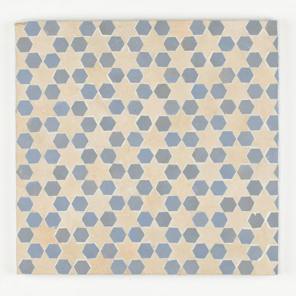 Sale Mosaic Tile - Clear Sky is Hex and Clay is Star