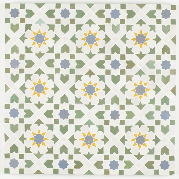 Tangier Mosaic Tile - Avocado