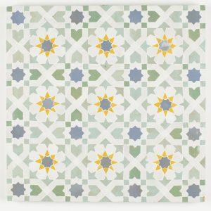 Tangier Mosaic Tile - Moss