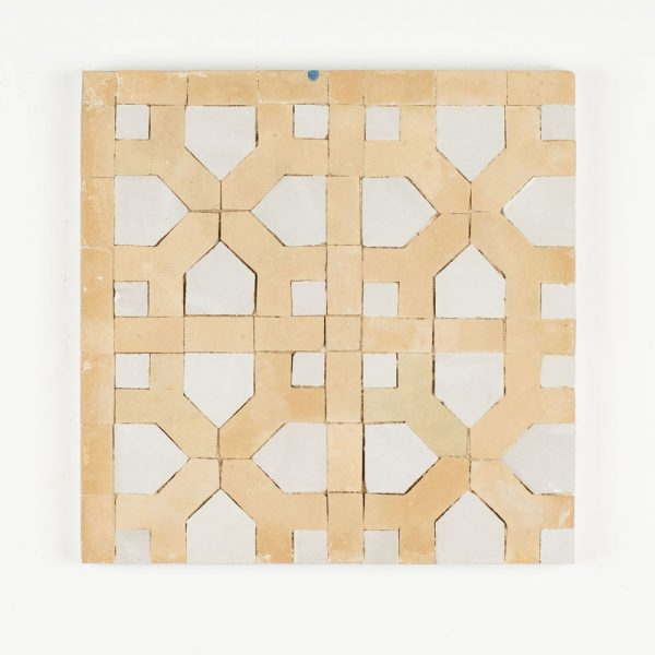 Tetouan Mosaic Tile - Snow Line and Dust Fill