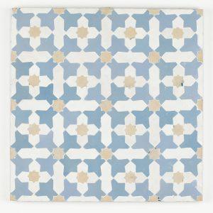 Beni Ansar Mosaic Tile Blue grass, Clay, Snow