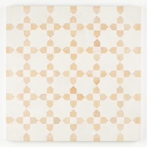 Kenitra Mosaic Tile - Snow and Clay